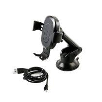 Baseus Wireless Qi Charger Gravity Autós Tartó Phone Arm Fekete (WXYL-A01)