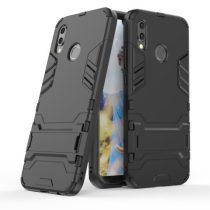 Huawei P20 Lite Ütésálló Tok Guard 2in1 Kitámasztható Fekete