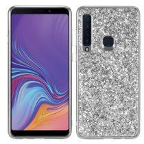 Samsung Galaxy A9 (2018) Csillámló Szilikon Tok Glitteres Fényes Ezüst