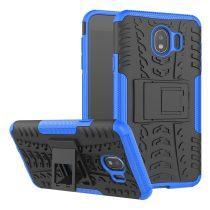 RMPACK Samsung Galaxy J4+ Ütésálló Tok Kitámasztható 2in1 Hybrid Kék