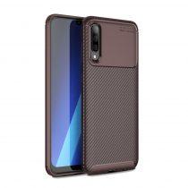 RMPACK Samsung Galaxy A50 A30S Tok Szilikon TPU Carbon Fiber - Karbon Minta Barna