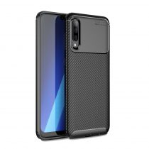 RMPACK Samsung Galaxy A70 Tok Szilikon TPU Carbon Fiber - Karbon Minta Fekete