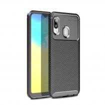 RMPACK Samsung Galaxy A20e Tok Szilikon TPU Carbon Fiber - Karbon Minta Fekete