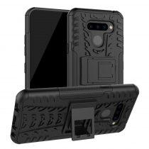 RMPACK LG Q60 Ütésálló Tok Kitámasztható 2in1 Hybrid Fekete